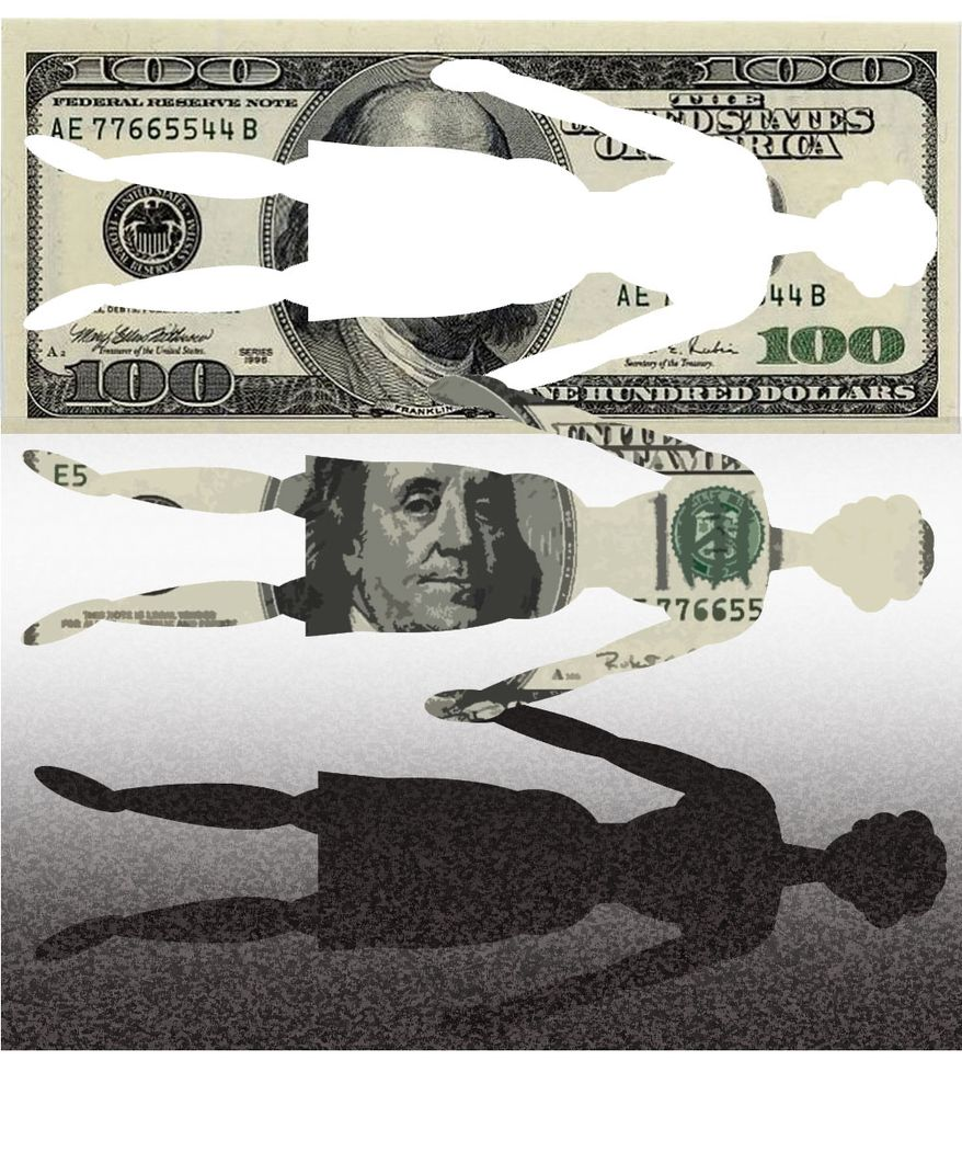Illustration Women and Money by Alexander Hunter for The Washington Times