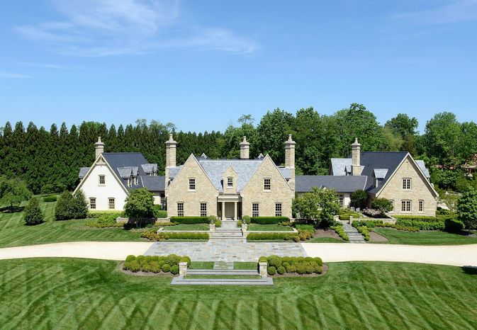 The Alderley Estate at 576 Innsbruck Ave. in Great Falls is on the market for $8,750,000. The manor home, built in 2007, sits on 5 acres and has six bedrooms, seven full baths and two powder rooms.