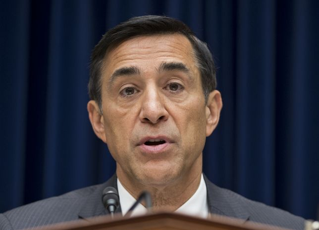 "**FILE** House Oversight Committee Chairman Darrell Issa, California Republican, hears Sept. 20, 2012, on Capitol Hill in Washington from Inspector General Michael Horowitz, the Justice Department's internal watchdog, the day after he issued a report faulting the department for disregard of public safety in ""Operation Fast and Furious,"" the Bureau of Alcohol, Tobacco, Firearms and Explosives' program that allowed hundreds of guns to reach Mexican drug gangs. (Associated Press)"