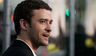 """Cast member Justin Timberlake attends the premiere of """"Trouble With the Curve"""" on Sept. 19, 2012, at the Westwood Village Theater in Los Angeles. (Matt Sayles/Invision/Associated Press)"""