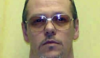 ** FILE ** Donald Palmer, 47, is scheduled to die by lethal injection on Thursday, Sept. 20, 2012, in Lucasville, Ohio, for killing two men in eastern Ohio. (AP Photo/Ohio Department of Rehabilitation and Corrections)