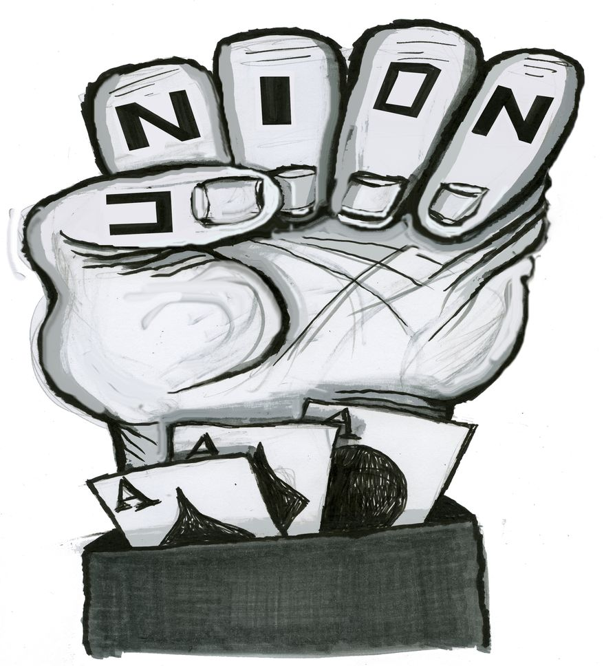 Illustration Union Fist by Alexander Hunter for The Washington Times