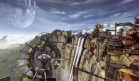 Players explore the massive planet of Pandora in the video game Borderlands 2.
