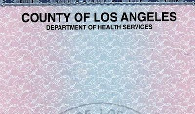This is a copy of a birth certificate, purchased from the County of Los Angeles' Department of Health Services of Jeremiah Angel Solomon, the sixth of eight babies born to Nadya Suleman on Jan. 26, 2009. (AP Photo/County of Los Angeles' Department of Health Services)