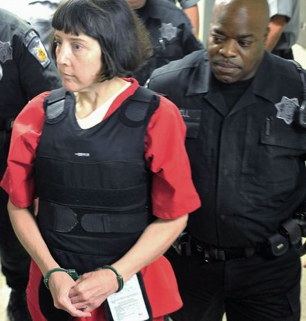 Associated Press Amy Bishop, seen here Sept. 11 in Huntsville, Ala., will spend the rest of her life in an Alabama prison for killing three. She avoided a death penalty with a guilty plea.
