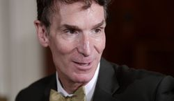 """**FILE** Bill Nye, host of television's """"Bill Nye The Science Guy,"""" attends a White House science fair on Oct. 18, 2010. (Associated Press)"""