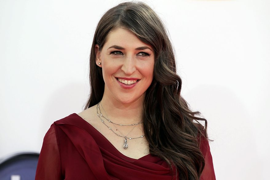 Mayim Bialik arrives at the 64th Primetime Emmy Awards at the Nokia Theatre on Sunday, Sept. 23, 2012, in Los Angeles. (Photo by Matt Sayles/Invision/AP)