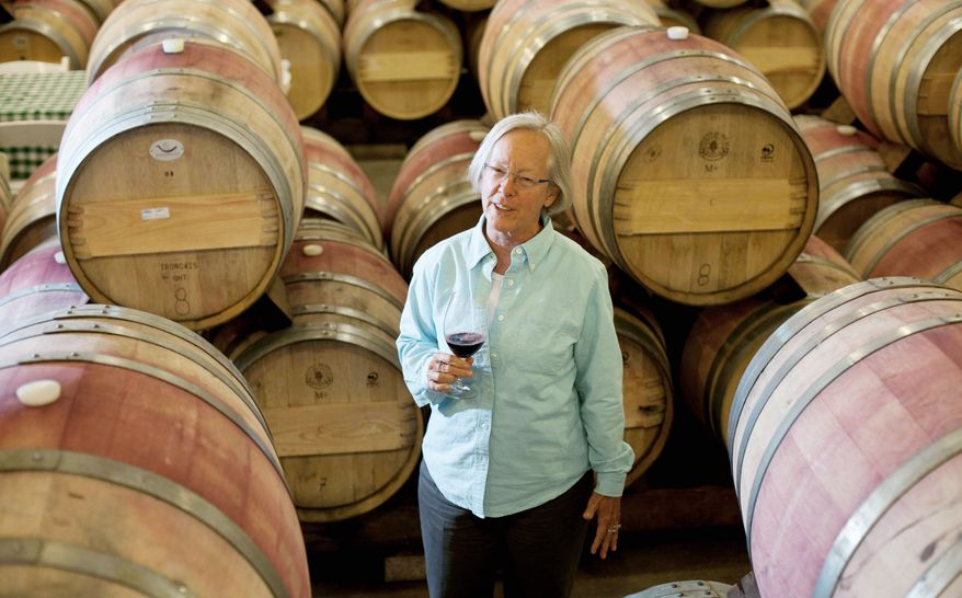 Cathy Corison has been selling wine from her Corison Winery in St. Helena, Calif., since 1978. At the time, she could count on one hand the number of women doing the same kind of work in the cellars of the Napa Valley. Since then, a lot more women have joined the winemaking business. (Associated Press)