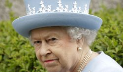 ** FILE ** Britain's Queen Elizabeth II arrives for a Service of Thanksgiving in St. Macartin's Cathedral in Enniskillen, Northern Ireland, on Tuesday, June 26, 2012, as part of the celebration of her 60 years on the throne. (AP Photo/Peter Morrison)