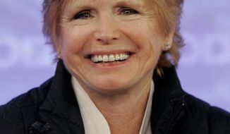 """Bonnie Franklin, star of the sitcom """"One Day at a Time,"""" appears with the reunited cast on NBC's """"Today"""" show in New York in 2008. (AP Photo/Richard Drew)"""