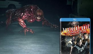 Beware what lurks in dark garages in the animated horror film Resident Evil: Damnation.