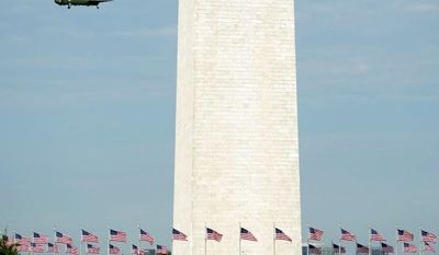 National Park Service Superintendent Bob Vogel announces details Wednesday for the repairs on the earthquake-damaged Washington Monument. (Andrew Harnik/The Washington Times)