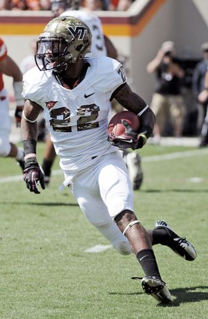 associated press  Tony Gregory led Virginia Tech in rushing with 68 yards in a 37-0 win over Bowling Gr