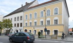Nazi dictator Adolph Hitler was born in this 500-year-old yellow stucco house in Braunau am Inn, Austria. (AP Photo / Kerstin Joensson)