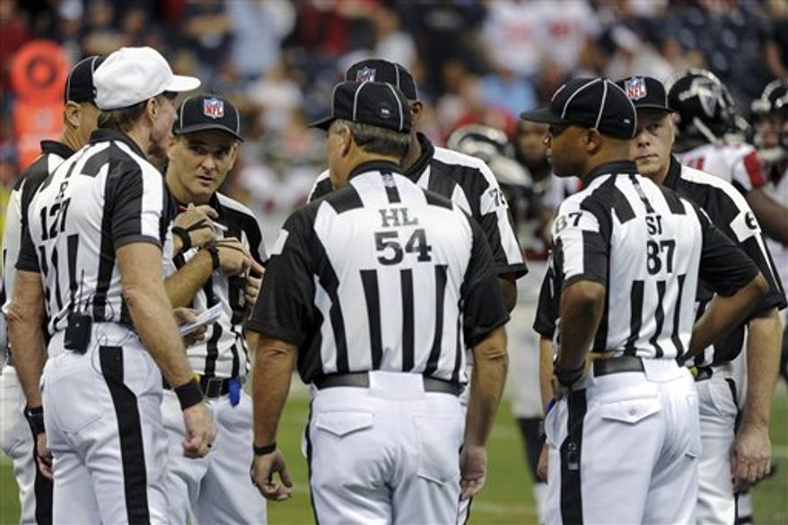 Replacement referees (Associated Press)