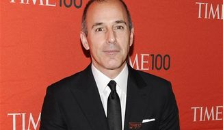 "** FILE ** NBC's ""Today"" show co-host Matt Lauer attends the TIME 100 gala, celebrating the 100 most influential people in the world, on April 24, 2012. (Associated Press)"