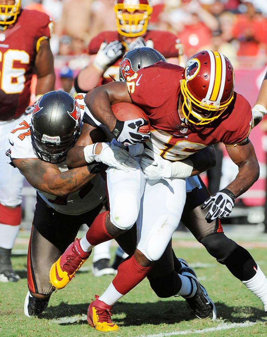 Alfred Morris ran for 121 yards and a touchdown in the Redskins' win over the Buccaneers on Sunday. (Associated Press)