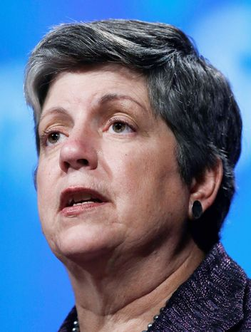 **FILE** Homeland Security Secretary Janet A. Napolitano says gay partners will be considered as family members when immigration agents are trying to decide deportation cases. (Associated Press)