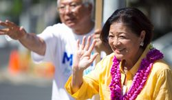 Rep. Mazie K. Hirono, a Democrat, is defeating a former two-term governor by double digits in Hawaii, although polling in the state has been unreliable. She is riding a blue tide that includes native son President Obama at the top of the ballot. (Associated Press)