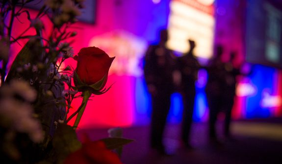 Preparations are made prior to the evening banquet as part of the 30th anniversary celebration of The Washington Times at the Marriott Wardman Park Hotel in Washington, D.C., Tuesday, Oct. 2, 2012. (Rod Lamkey Jr./The Washington Times)