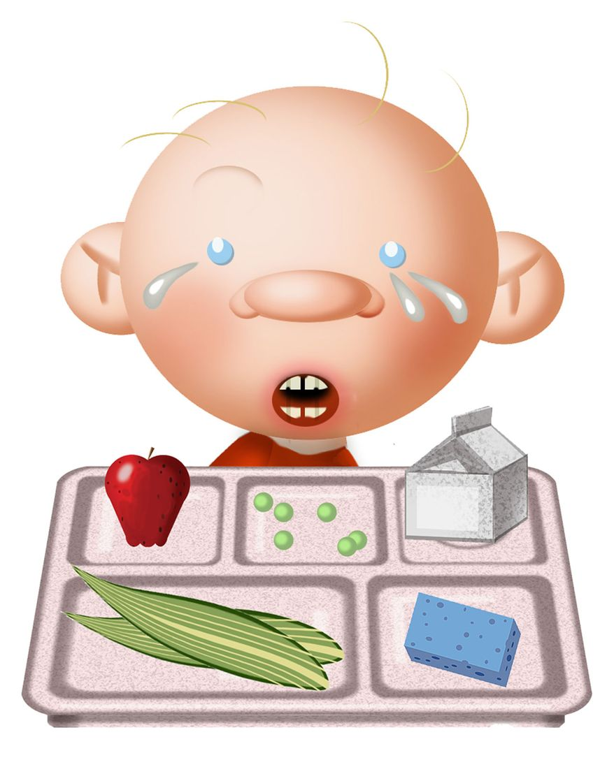 Illustration Hungry Kid by Alexander Hunter for The Washington Times