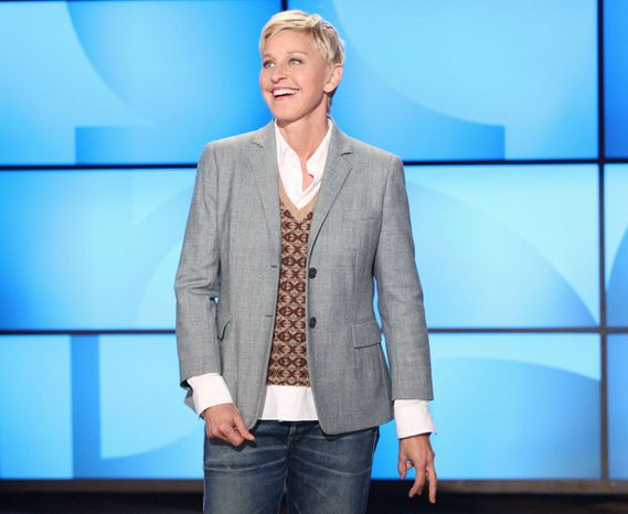 Ellen DeGeneres will receive the Mark Twain Prize for American Humor at the Kennedy Center on Oct. 22. The ceremony will be televised on PBS stations Oct. 30. (Associated Press)