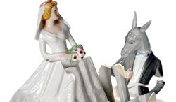Illustration Democrats Ruining Marriage by Linas Garsys for The Washington Times