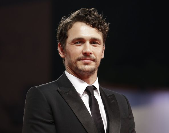 "Actor James Franco attends the premiere of the film ""Spring Breakers"" at the 69th edition of the Venice Film Festival in Venice, Italy, on Wednesday, Sept. 5, 2012. (AP Photo/Andrew Medichini)"