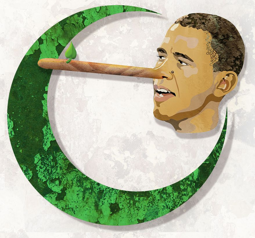 Illustration Pinocchiobama  by Greg Groesch for The Washington Times