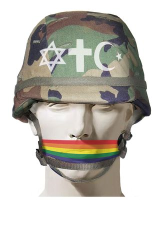 Illustration Silenced Chaplains by Alexander Hunter for The Washington Times