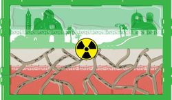 Illustration Nuclear Iran by John Camejo for The Washington Times