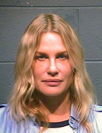 Actress Daryl Hannah was arrested in Winnsboro, Texas, on Thursday, Oct. 4, 2012, while protesting construction of a pipeline designed to bring crude oil from Canada to Gulf Coast refineries. (AP Photo/Wood County Sheriff)