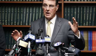 Camden County Prosecutor Warren W. Faulk announces Oct. 4, 2012, in Camden, N.J., that three teachers and two administrators at a southern New Jersey high school have been arrested on charges stemming from allegations involving sex with students. (Associated Press)