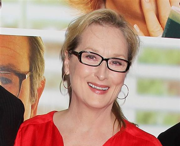 "** FILE ** This Aug. 6, 2012, file photo originally released by Starpix show actress Meryl Streep at the premiere of the Columbia Pictures film ""Hope Springs,"" at the SVA Theatre in New York. Streep has donated $1 million to The Public Theater in honor of both its late founder, Joseph Pap, and her friend, the author Nora Ephron. (AP Photo/Starpix, Dave Allocca)"