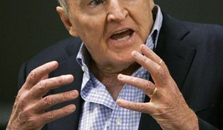 ** FILE ** In this Sept. 27, 2006, file photo, former General Electric CEO Jack Welch addresses students at the Massachusetts Institute of Technology, in Cambridge, Mass. Conspiracy theorists came out in force Friday, Oct. 5, 2012, after the government reported a sudden drop in the U.S. unemployment rate one month before Election Day. Welch tweeted his skepticism five minutes after the Labor Department announced that the unemployment rate had fallen to 7.8 percent in September from 8.1 percent the month before. (AP Photo/Elise Amendola, File)