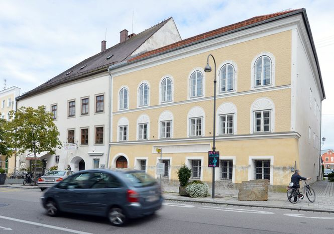 With its arched doorway and deep-set windows, a house near the town square in Braunau, Austria, would ordinarily be considered prime property. Because Adolf Hitler was born there, however, it has become a problem for town fathers forced to decide what to do with a landmark linked to evil, even though Hitler lived there only for the first few months of his life. (Associated Press)