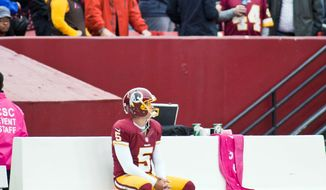 Craig Bisacre/The Washington Times   Redskins kicker Billy Cundiff mulls his situation after missing a 31-yard field goal attempt Sunday.