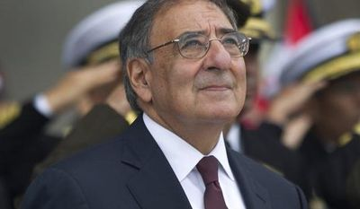 U.S. Defense Secretary Leon Panetta attends a ceremony at Army headquarters in Lima, Peru, on Oct. 6, 2012. (Associated Press)