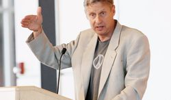 """Third-party candidate Gary Johnson has little presence in the presidential race but potentially could have a major impact on the election. Mr. Johnson, on the ballot in 48 states, is the Libertarian Party nominee. """"A wasted vote is voting for someone you don't believe in,"""" Mr. Johnson said."""
