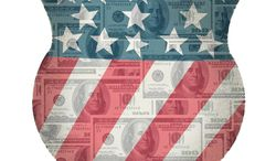 Illustration Defense Funding by Alexander Hunter for The Washington Times
