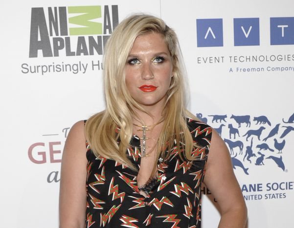 **FILE** Singer Ke$ha attends the 26th Annual Genesis Awards benefiting the Humane Society in Beverly Hills on March 24, 2012. (Associated Press)