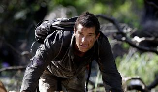 "Adventurer Bear Grylls is shown at Mount Borradaile in Australia's northwestern Arnhemland during filming of the Discovery Channel series ""Man vs. Wild"" in May 2010. (AP Photo/Discovery Channel, Luis Enrique Ascui)"