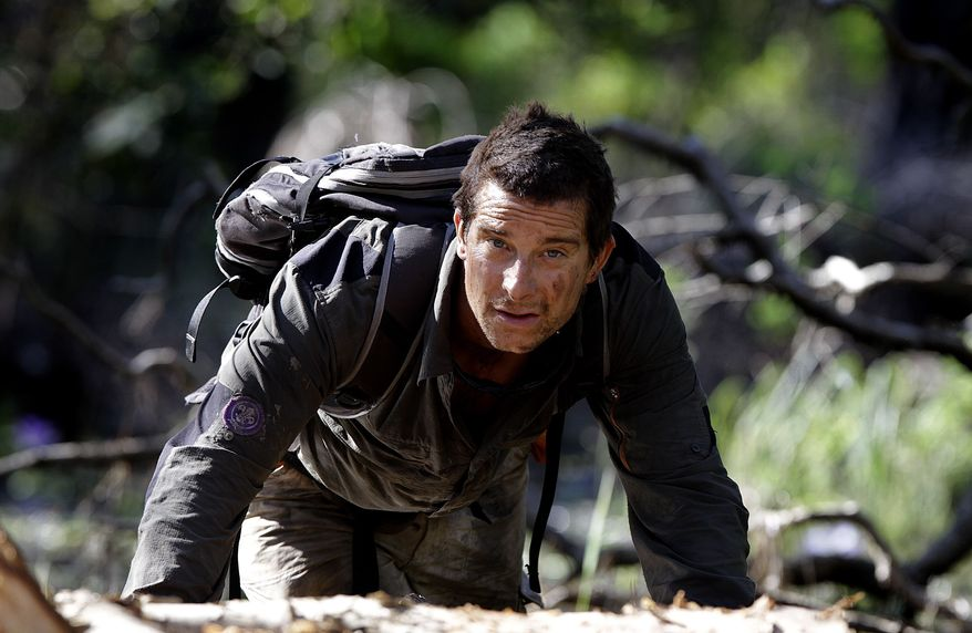 """Adventurer Bear Grylls is shown at Mount Borradaile in Australia's northwestern Arnhemland during filming of the Discovery Channel series """"Man vs. Wild"""" in May 2010. (AP Photo/Discovery Channel, Luis Enrique Ascui)"""