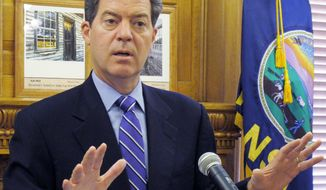 ** FILE ** Kansas Gov. Sam Brownback. (Associated Press)