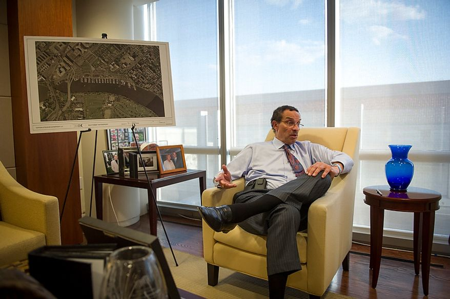 Washington D.C. Mayor Vincent Gray responds to questions during an interview in his office at the John A. Wilson Building in Washington, D.C., Friday, Oct. 5, 2012. (Rod Lamkey Jr./The Washington Times)