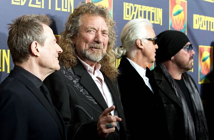 Members of Led Zeppelin (from left) John Paul Jones, Robert Plant, Jimmy Page and Jason Bonham say there is no reunion tour for the band anytime soon. (Invision via A
