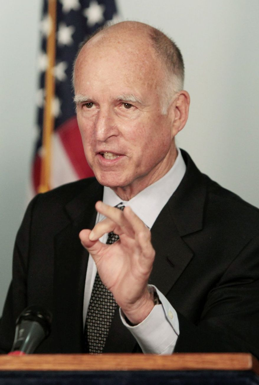California Gov. Jerry Brown said he needed more time to consider a bill that would let courts give parental rights to more than two individuals. The bill was introduced by a gay legislator. (The Associated Press)