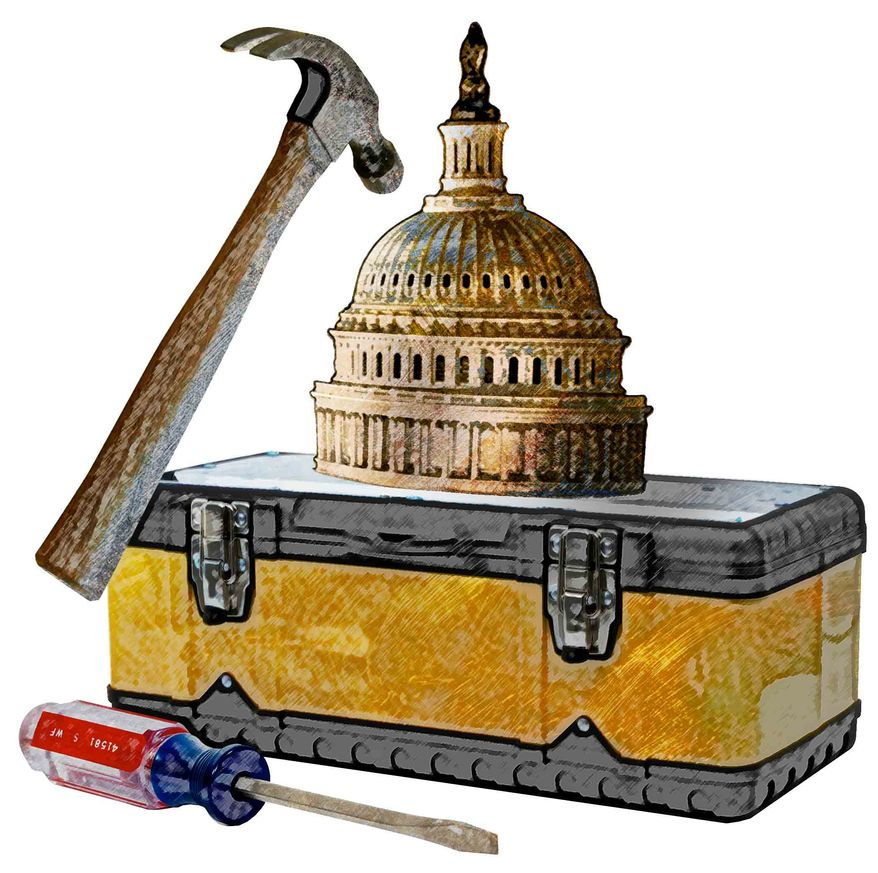 Illustration Capitol Toolbox by Greg Groesch for The Washington Times