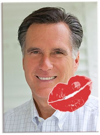 Illustration Love for Romney by John Camejo for The Washington Times
