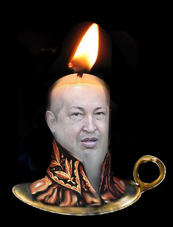 Illustration Chavez Candle by John Camejo for The Washington Times